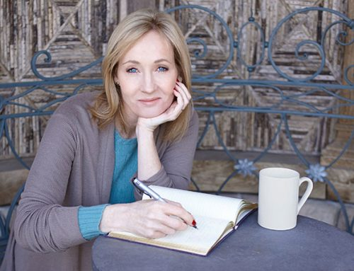 J K Rowling at the Podium